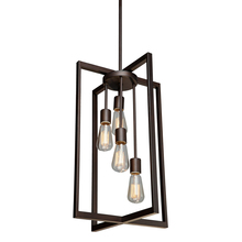 Artcraft AC10414 - Gastown 4 Light  Oil Rubbed Bronze Chandelier