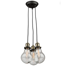 Artcraft AC10483 - Edison 3 Light  Vintage Brass Chandelier