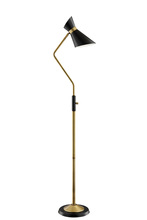 Lite Source Inc. LS-83135 - Floor Lamp, Ab Finished/black/metal Shade, E27 G 60w