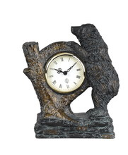 CAL Lighting TA-507CLK - BEAR WITH TREE TRUNK CLOCK