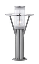 Eglo 88116A - 1x100W Outdoor Path Light w/ Stainless Steel Finish & Clear Glass