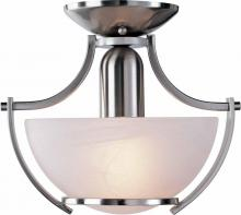 Volume Lighting V4821-33 - Durango 1-light Brushed Nickel Semi-Flush Ceiling Mount