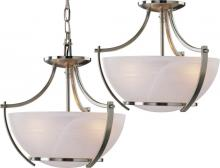 Volume Lighting V4833-33 - Durango 3-light Brushed Nickel Pendant or Semi-Flush Ceiling Mount