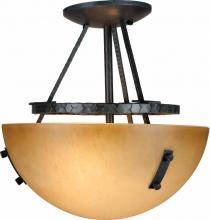 Volume Lighting V5342-53 - Lodge 2-light Frontier Iron Semi-Flush Ceiling Mount