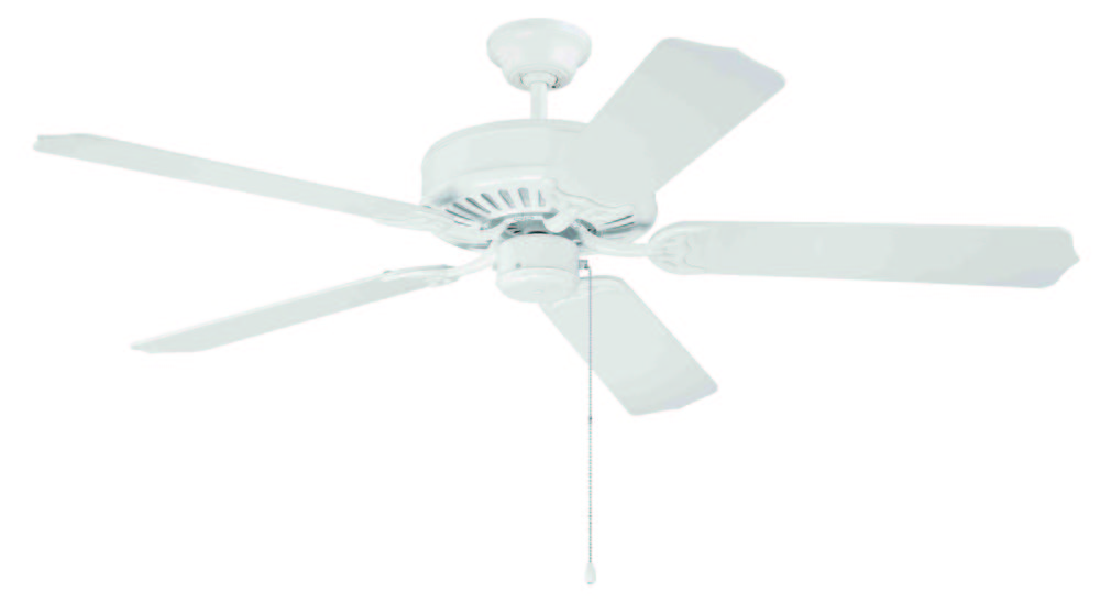 "Pro Builder 52"" Ceiling Fan Kit in White"