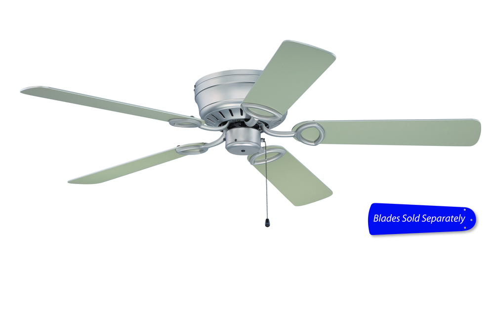 "Pro Universal Hugger 52"" Ceiling Fan in Brushed Satin Nickel (Blades Sold Separately)"