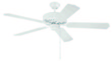 "Craftmade K10621 - Pro Builder 52"" Ceiling Fan Kit in White"