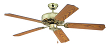 "Craftmade K11137 - Pro Builder 52"" Ceiling Fan Kit in Polished Brass"