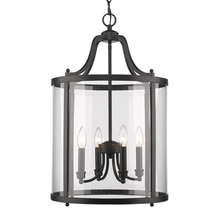 Golden 1157-4P BLK - 4 Light Pendant
