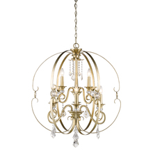 Golden 1323-9 WG - 2 Tier - 9 Light Chandelier