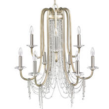 Golden 1425-9 WG - 2 Tier - 9 Light Chandelier