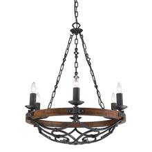 Golden 1821-6 BI - 6 Light Chandelier