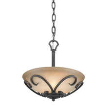 Golden 1821-SF BI - Madera Semi-Flush (Convertible) in Black Iron with Toscano Glass