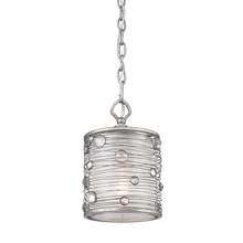 Golden 1993-M1L PS - Joia Mini Pendant in Peruvian Silver with Sterling Mist Shade