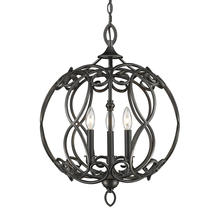 Golden 2870-3P ABZ - 3 Light Pendant
