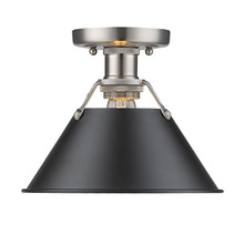 Golden 3306-FM PW-BLK - Flush Mount