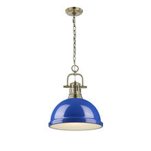 Golden 3602-L AB-BE - 1 Light Pendant with Chain