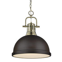 Golden 3602-L AB-RBZ - 1 Light Pendant with Chain