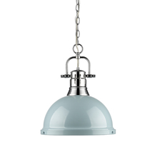 Golden 3602-L CH-SF - 1 Light Pendant with Chain