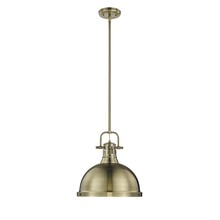 Golden 3604-L AB-AB - 1 Light Pendant with Rod
