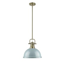 Golden 3604-L AB-SF - 1 Light Pendant with Rod