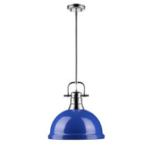 Golden 3604-L CH-BE - 1 Light Pendant with Rod