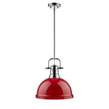 Golden 3604-L CH-RD - 1 Light Pendant with Rod