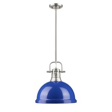Golden 3604-L PW-BE - 1 Light Pendant with Rod
