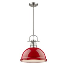 Golden 3604-L PW-RD - 1 Light Pendant with Rod