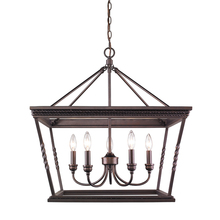Golden 4214-5 EB - 5 Light Chandelier