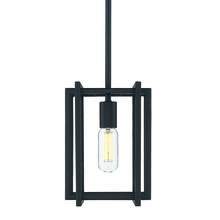 Golden 6070-M1L BLK-BLK - Tribeca Mini Pendant in Black with Black Accents
