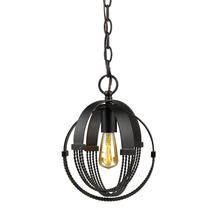 Golden 7001-M1L ABZ - Carter Mini Pendant in Aged Bronze