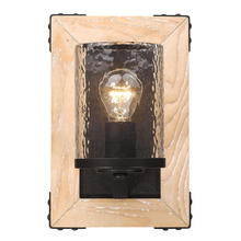 Golden 7804-1W RB-CWG - 1 Light Wall Sconce