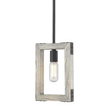 Golden 7808-M1L BLK - Lowell Mini Pendant in Black