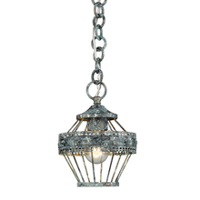 Golden 7856-M1L VP - Ferris Mini Pendant in Blue Verde Patina