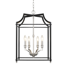 Golden 8401-4P PW-BLK - 4 Light Pendant