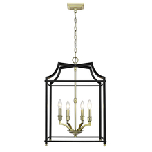 Golden 8401-4P SB-BLK - 4 Light Pendant