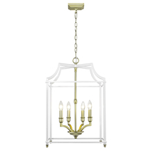 Golden 8401-4P SB-WH - 4 Light Pendant
