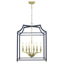 Golden 8401-6P SB-NVY - 6 Light Pendant