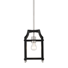 Golden 8401-M1L PW-BLK - Leighton PW Mini Pendant in Pewter with Black