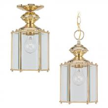 Sea Gull 6008-02 - One Light Outdoor Semi-Flush Convertible Pendant