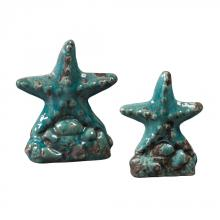 Sterling Industries 119-043/S2 - Set Of 2 Ceramic Star Fish