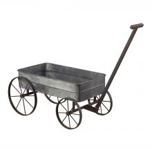 Sterling Industries 51-10016 - Metal Cart Planter With Handle
