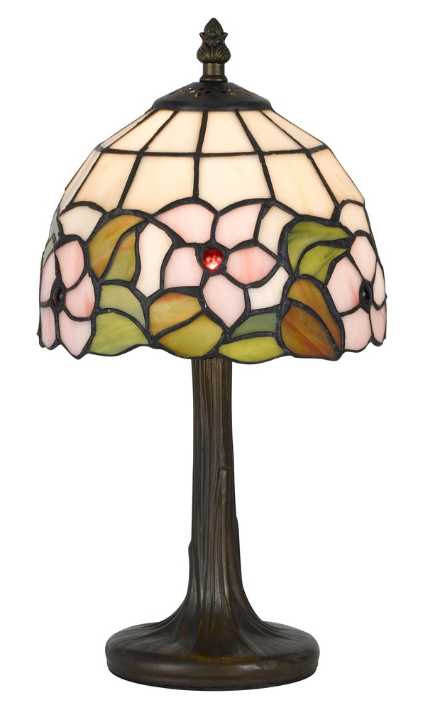 "13.5"" Height Zinc Cast Accent Lamp In Antique Brass"