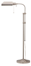 "CAL Lighting BO-117FL-BS - 62"" Height Metal Floor Lamp In Brushed Steel"
