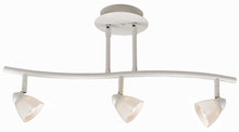 "CAL Lighting SL-954-3-WH/WH - 7.25-19.25"" Inch Adjustable Metal Serpentine Three Light Ceiling Fixture"