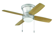 "Ellington Fan LAVH52BP4 - Laval 52"" Hugger Ceiling Fan with Blades and Light in Brushed Pewter"