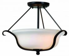 Kenroy Home 93117ORB - Basket 2 Light Semi Flush