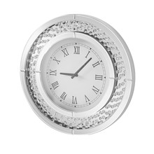 Elegant MR9115 - Sparkle 20 in. Contemporary Crystal Round Wall clock in Clear
