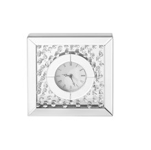 Elegant MR9116 - Sparkle 10 in. Contemporary Crystal Square Table clock in Clear